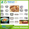 Smooth Wall Aluminium Foil Container Rectangular Full Curl Pan Container