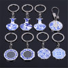 New Product Blue and White Porcelain Keychain for Gifts