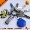 Keyring Hook OTG Mobile Dual USB Pendrive for Present (YT-3291)