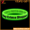 Customed Design Printed Solid Glow in The Dark Silicone Wristband/Rubber Band