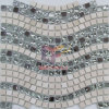 Wave Pattern Design Mosaic Made by Glass and Marble (CS163)