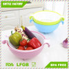 Plastic 2-in-1 Colander & Strainer Bowl Basket Washing Fruits Vegetable for Kitchen