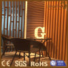 Indoor Composite Wood Screen for Coffee Shop Decoration