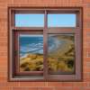 Durable Powder Coated Aluminum Window