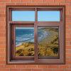 Durable Powder Coated Aluminum Window