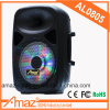 8 Inch Portable Trolley Speaker with Wheels Handheld Wireless Microphone