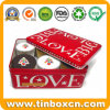 Food Grade Rectangular Christmas Tree Cupcakes Metal Tin Box