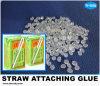 Traparent Drink Box Straw Attachment Hot Melt Glue SGS