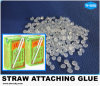 Traparent Drink Box Straw Attachment Hot Melt Glue