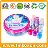 Metal Can Tin Case Cosmetic Tin Box for Lip Balms