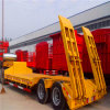 2 Axle Low Loader Semi Trailer with Rear Ramp