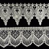 Stiff White Fan Shaped Flower Flat Lace Trim, Galloon Lace Trim L136
