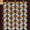 Rhombus Red/Beige Honed Marble Flooring Tile Mosaic