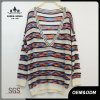 Women Sexy Plunging V- Neck Striped Sweater