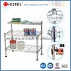 Adjustable DIY Chrome Plated Steel Kitchen Mini Wire Shelf Rack
