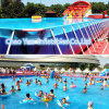 Giant Commercial Inflatable Water Park with Steel Frame Swimming Pool