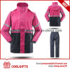 New Fashion Waterproof Polyester Raincoat Set with Reflective Strip