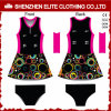 Wholesale Cheap New Design Ladies Sexy Polyester Lycra Netball Dresses (ELTNBJ-128)
