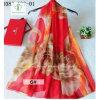 2017 Hot Sale Chiffon Silk Flower Printed Shawl Fashion Lady Scarf