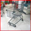 Hot Sell Zinc Plated Supermarket Metal Grocery Trolley Cart