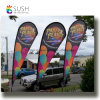 Customized Fiberglass Pole Teardrop Beach Feather Flying Flag (SU-FG22)