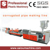 PE PP Single Wall Corrugated Drainage Pipe Making Machine