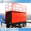Electric Box & Button Hydraulic Scissor Man Lift Exporting to UK