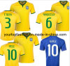Free&Faster Shipping World Cup 2014 Brazil Home/Aways Thailand High Quality Brasil Yellow Football Clothing Shrit Soccer Jerseys