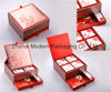2layer High Quality Rigid Cardboard Red Color Mooncake Packaging Box