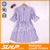 Fashion Women Vertical Stripe Apparel with Half Sleeve
