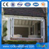 Aluminium Folding Window with Stainless Steel Metal Protection