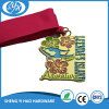 Gold Plating Custom Sports Medal with Solid Ribbon