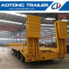 Tri- Axle Lowbed Semi Trailer, 50 Tons Low Flatbed Trailer
