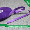 "Nice 5/8 "" Width Gift Golden Thread Silk Ribbon"