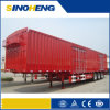 China Heavy Duty Steel Cargo Box Semi Trailer Used for Bulk Cargo Transport