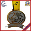 Customized Half Marathon Medal with Silk Screen Ribbon