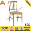 Golden Aluminum Fixed Cushion Napoleon Chair