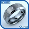 Diamond Tungsten Wedding Ring (CKT-238)