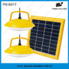 ABS Outdoor LED Solar Lighting System with 2 1W Lamps