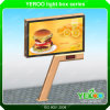 Highway Two-Side Durable Structure with Solar Panel LED Column Billboard