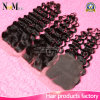 130% Density 35-45gram Made Method Hand Tied Peruvian Deep Wave Lace Top Closure