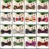 New Performance Men Polyester Bow Tie Many Printed Designs