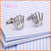 VAGULA 2016 New Style Rhodium Plated Crown Cuff Links