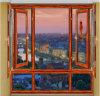 1.8mm Thickness Profile Cherry Wood Swing Window