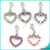 Large Hollow Colorful Heart Pendant Dangles (MPE)