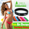 Wholesale Debossed Embossed Logo Custom Black Silicone Wristband Bracelet