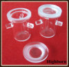 Clear Melting Silica Quartz Glass Crucibles with Three Supports
