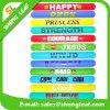 Various Sizes/Colors Eco-Friendly Candy Color Silicon Slap Bracelets