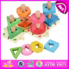 2015 Hot Sale Wooden Geometric Toy Set, New Wooden Geometric Toy Set for Baby, Educational Wooden Geometric Toy Set W13e058