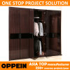 Oppein Brown Lacquer 6 Swing Doors Wooden Wardrobe (YG11316)